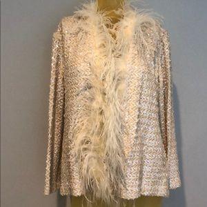 VINTAGE Sequin jacket M/L